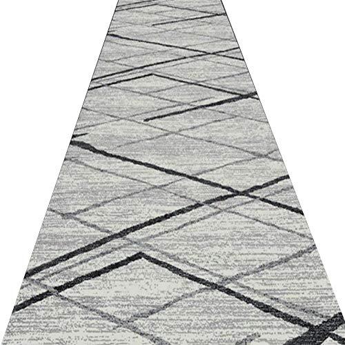 GJIF Läufer-Teppich für Flur 8mm kurzer Flor Lange Teppichboden rutschfeste Keine verblassenden Schlafzimmer Boden modernes Design, mehrere Größen (größe : 1x3m)
