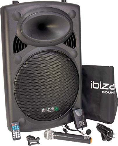 Ibiza PORT15VHF-BT Sonorisation portable USB/Bluetooth Noir