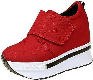 RAZAMAZA Women Fashion Hidden Wedge Heel Shoes Sneakers