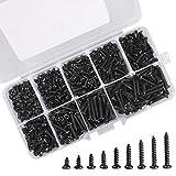 Micro Tornillos de cabeza Phillips M3 Kit de mini tornillos de madera electrónicos autorroscantes...