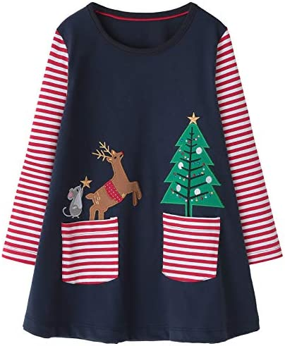 Fiream Girls Casual Dress for Kids Cotton Long Sleeve Shirt Clothes product image