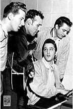 Million Dollar Quartet - Elvis Presley - Jerry Lee Lewis - Carl Perkins - Johny Cash 36x24 Music Art Print Poster