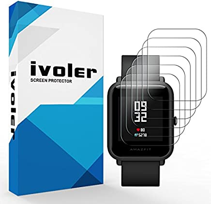 iVoler [6 Unidades] Protector de Pantalla para Huami Amazfit Bip, [Cobertura Completa] [líquida Instalar] [Sin Burbujas] HD Transparente TPU Suave láminas Protectora