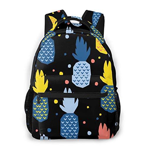 Mochila unisex con diseño abstracto de piña, bolsa ligera para portátil, para la escuela, viajes, camping al aire libre