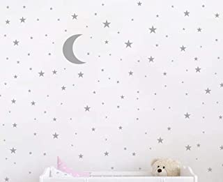 Moon and Stars Wall Decal Vinyl Sticker For Kids Boy Girls Baby Room Decoration Good Night Nursery Wall Decor Home House B...