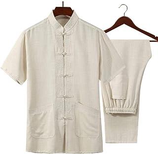 Tai Chi Clothing Martial Arts Uniforms Martial Arts Clothing, Tai Chi Uniform Traditional Cotton Short Sleeves Kung Fu Tra...
