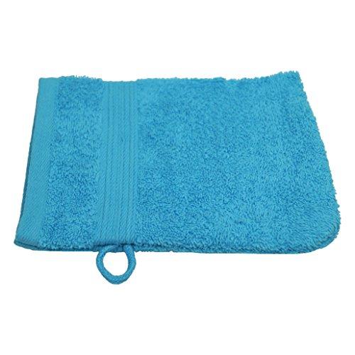 Julie Julsen Gants de toilette sans produits chimiques - 600 g/m² - Turquoise - 15 x 21 cm - 100 % coton - Certifié Öko-Tex Std 100 - Doux et absorbant - Lavable en machine