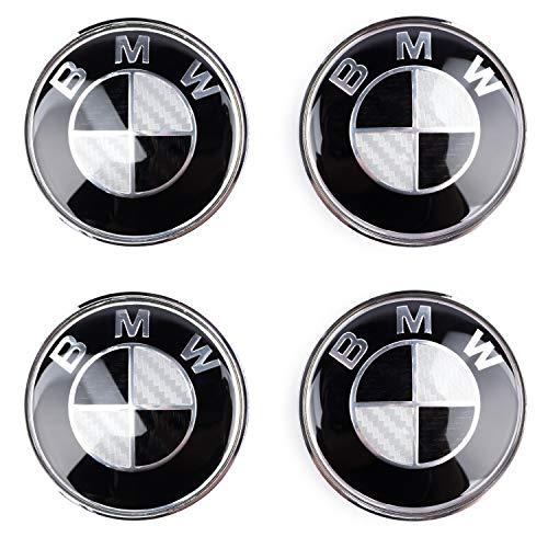 4pcs Radnabenabdeckung Nabendeckel Emblem Radkappen für BMW 68mm Cover Hub