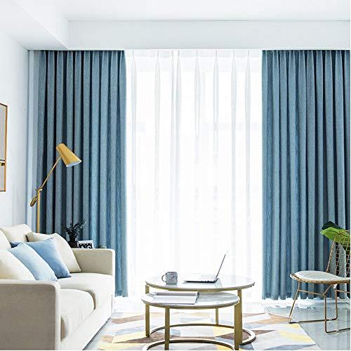 fgdsa Lichtsperrvorhang,verdickungsschutz Fade-resistent Lärm Reduzierende Vorhang Drape,thermische Dimout Vorhang,1 Stück-a 300x270cm(118x106inch)