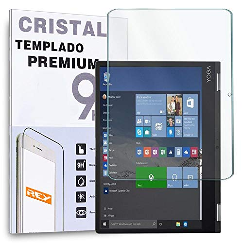 REY Protector de Pantalla Frontal para Lenovo Yoga Book 10.1', Cristal Vidrio Templado Premium Táblet