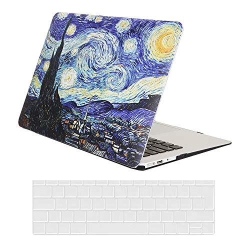 AUSMIX Hülle für MacBook Air 13 Zoll Hülle 2020/2019/2018 Release, Plastik Hard Shell Cover & Keyboard Skin Cover Nur kompatibel für MacBook Air 13 Zoll M1 A2337/ A2179 / A1932,Malerei