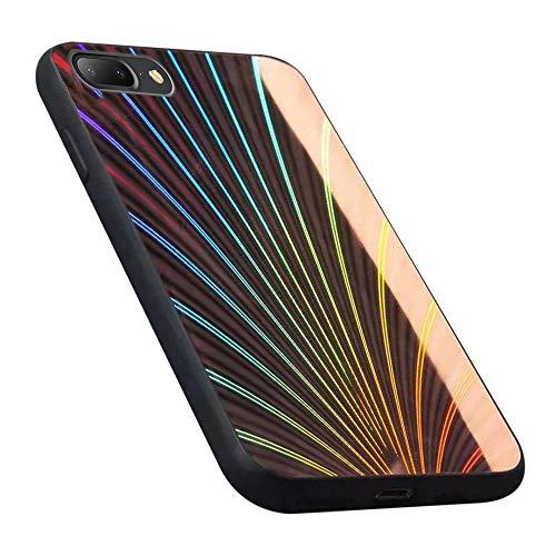 Oihxse Case Compatible pour iPhone 11 Pro 2019 Coque Mode 9H Verre Trempé Dur Protection Colore Laser Motif Housse Noir Silicone TPU Souple Bumper Etui Anti Rayures Cover (Couleur 3)