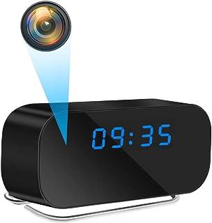 【最新型】時計型カメラ WiFi 小型カメラ 隠しカメラ 置き時計 スパイカメラ 1080P高画質 監視カメラ 暗視機能 動体検知 IOS/Android対応 遠隔操作可能 長時間録画 防犯用 証拠撮影 日本語取扱説明書付