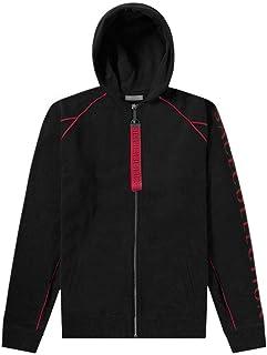 Versace Collection Cotton Zip Up Black Hoodie
