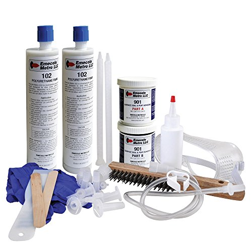 DIY Leaky Basement Wall Crack Repair Kit (10 ft.) for Homeowners - Repair Poured Concrete Foundation Wall Cracks, the Waterproofing Contractor's Preferred Solution