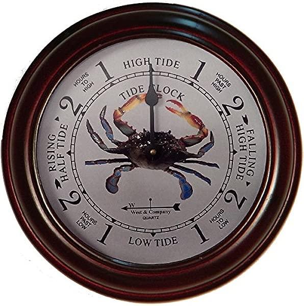West Company 9 1 2 Cherry Blue Crab Tide Clock