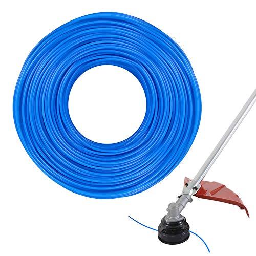 ZOCIPRO 1.6mm x 100m Strimmer Linee, Filo Decespugliatore, Filo Tagliaerba in Plastica Durevole per Carichi Pesanti, Filo Rotondo Blu Adatto per Produzione Agricola, Giardinaggio Domestico