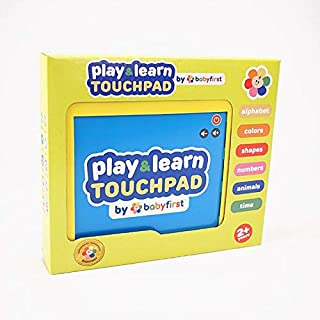 Play & Learn Touchpad by babyfirst - Fun and Educational Tablet Toy to Learn Colors, Numbers, Shapes, Alphabet, Animals, T...