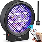 BUGONE Bug Zapper Electric Mosquito Insect Fly Trap Killer Timer Lamp with Remote Controller for Indoor & Home, Powerful Dual Bulbs 14W 3000V with UV Light