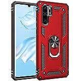 AFARER Hülle Kompatibel Mit Huawei P30 Pro/Huawei P30 Pro New Edition/Huawei P30 Pro 2020 Militärische Handyhülle Rot