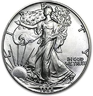 1988-1 Ounce American Silver Eagle Shipping .999 Fine Silver with our Certificate of Authenticity Dollar Uncirculated US Mint