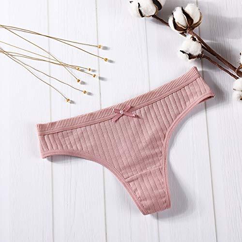 M-XXL Unterwäsche weibliche Baumwolle Sense Unterwäsche Tanga Unterwäsche lässiger intimer Tanga - Rose Red, XXL, 1St