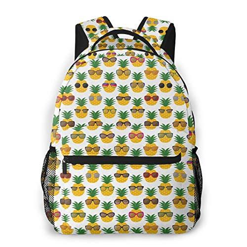 Rucksack Männer und Damen, Laptop Rucksäcke für 14 Zoll Notebook, Ananas Rhombusfrucht Kinderrucksack Schulrucksack Daypack für Herren Frauen