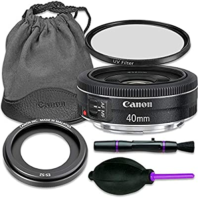 Canon EF 40mm f/2.8 STM Lens with Accessory Bundle (Renewed) from Canon