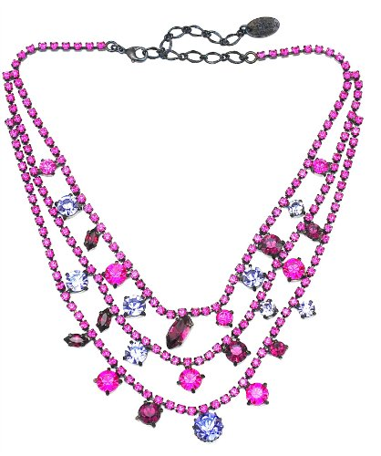 Swaroski Crysal Neckalce de color morado - Purple collar de cristal
