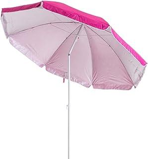 comprar comparacion LOLAhome Sombrilla Playa Plegable Nylon de Ø 220 cm (Rosa)