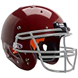 Schutt Sports Recruit Hybrid Youth Football Helmet (Facemask NOT Included), Cardinal, 2X-Small