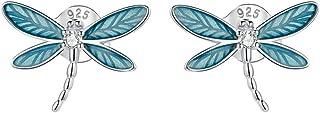 Holibanna 1 par de Pendientes de Plata Delicados de Moda Pendientes de Joyería para Mujer