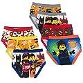 LEGO Toddler Boy's Movie 2 7-Pack Briefs Underwear, LM2 Brief, 4T