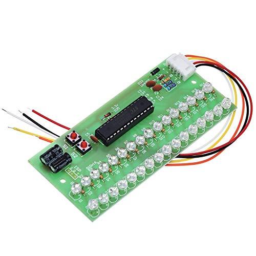 Compatibele Vervangings MCU Verstelbare weergavepatroon LED VU Meter Level Indicator Versterker Audio 16 LED Dual Channel Groen lamp licht DC 8V tot 12V accessoire