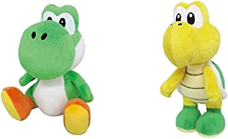 """Best Little Buddy Super Mario All Star Collection 1416 Yoshi Stuffed Plush, 8"""",Multi-Colored & Buddy Super Mario All Star Collection 1425 Koopa Troopa Stuffed Plush, 7"""",Multi-Colored Review"""