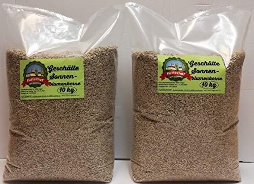 Futterhof geschälte Sonnenblumenkerne 2 x 10 kg = 20 kg, GRATIS Versand mit DHL