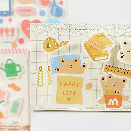Nette einfache Lebensserie Bullet Journal Tagebuchaufkleber Mädchen DIY Scrapbooking Japanisches Briefpapier Dekorationsmaterial Escolar