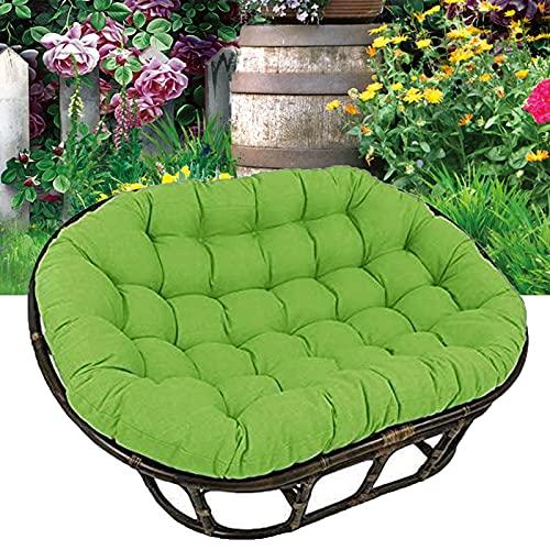 TDHLW Papasan - Funda de cojín impermeable para silla Papasan, cojín para patio o jardín, funda de cojín para silla de columpio para colgar en interiores y exteriores, color verde, 170 x 120 cm