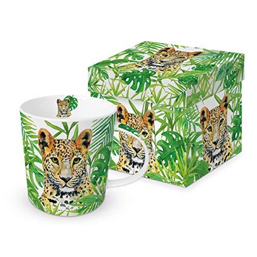 Paperproduct Design Kaffeebecher Leopard mit Geschenkbox, Tasse Tiere Tier Geschenkset, Raubkatze