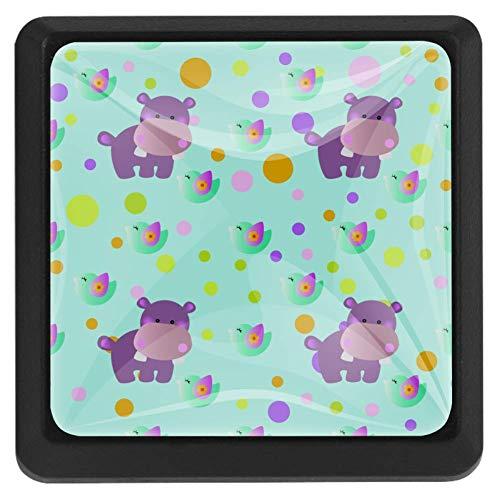 Bonito juguete de bebé Behemoth Bird and Circles [3 piezas] Tiradores de armario de cristal transparente para cajones, pomos de armario con tornillos para cocina, aparador, armario, cuarto de baño, armario