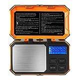 DUESI Escala de bolsillo de precisión 200 g x 0,01 g escala de gramo digital escala de hierbas Mini escala de alimentos escala de joyería w/100 g de calibración