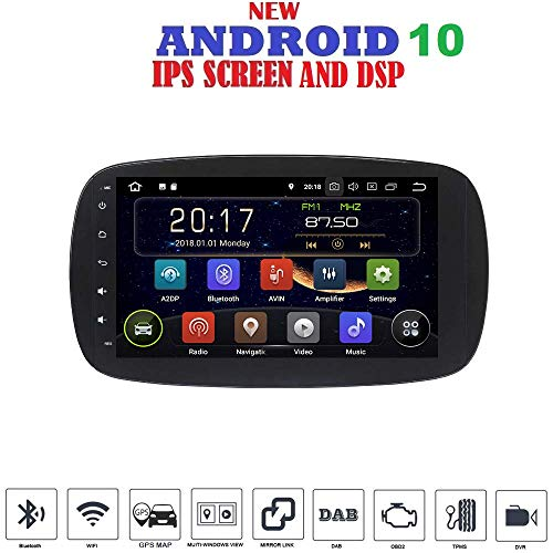 Android 10 GPS USB WI-FI Bluetooth Autoradio Smart Fortwo W453 2014, 2015, 2016, 2017, 2018