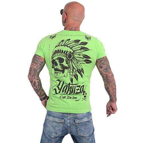 Yakuza Herren Indian Skull T-Shirt