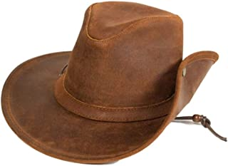 Western Hat Adult Aussie Durable Ruff Leather Tan 9541