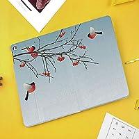 iPad Air 10.5 ケース/iPad Pro 10.5 ケース 薄型 オートスリープ機能 三つ折りスタンドウソ鳥飛ぶと枝に冬をテーマにしたグラフィックデザイン装飾