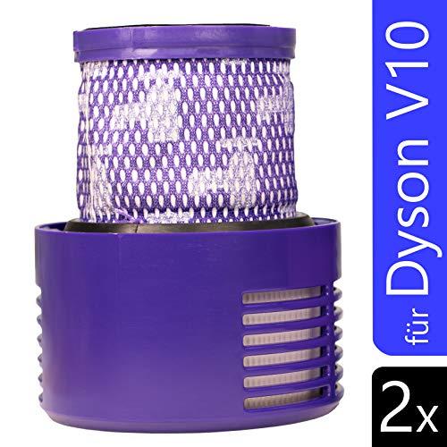 2 Stück Filter für Dyson V10 Cyclone Absolute Pro Animal Staubsauger Ersatzfilter Zubehör Motorhead Akkusauger Ersatzteile Set DC29