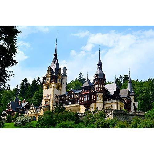 Puzzle Peles Castle Rumania Jigsaw Adultos 500/1000/1500/2000 Pieza Juguetes De Regalo De Juego Desafiante para Adultos Adolescentes Familia Decorativos 0113