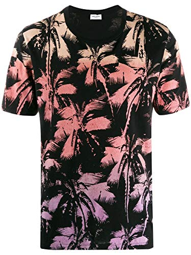 Saint Laurent Luxury Fashion Heren 604454YBOZ21022 Multicolor T-shirt