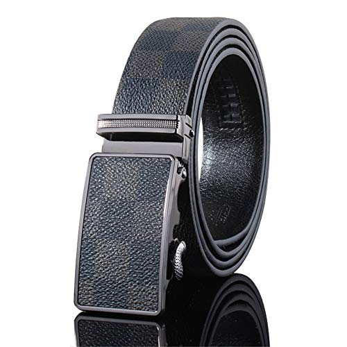 SBORT Cintura Casual Ideale per jeans Elegante quadrante da uomo pulsante automatico regolabile buona resistenza all'usura facile da abbinare ad ogni aspetto 100-135CM