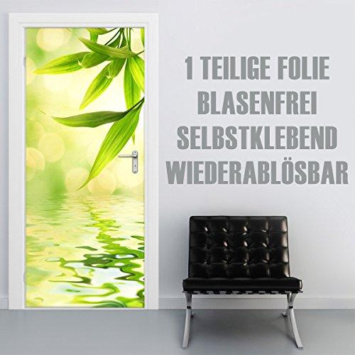 XXL-Tapeten Türtapete selbstklebend TürPoster Green Reflection im Format 90x210cm - Türfolie Klebefolie von Trendwände